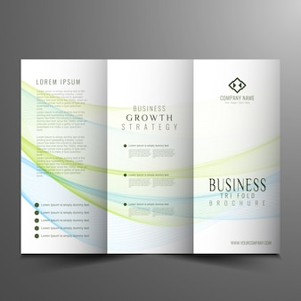 Corporate trifold business brochure design