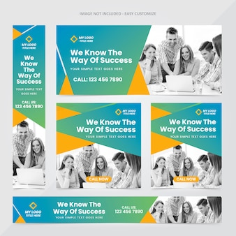 Corporate web banner ad set template