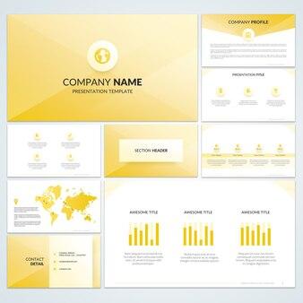 Корпоративная книга желтого флаера