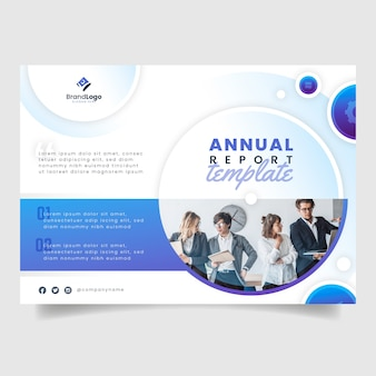 Corporative annual report template