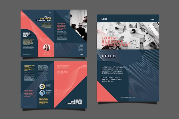 Corporative business brochure concept