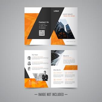 Corporative business brochure design template