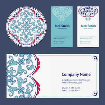 Corporative business cards design set and envelope with beer mat