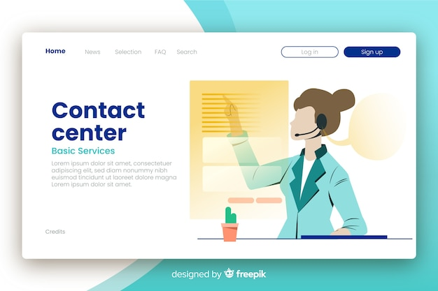 Corporative contact us landing page