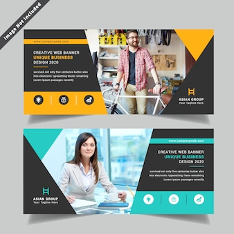 Corporative double side flyer template