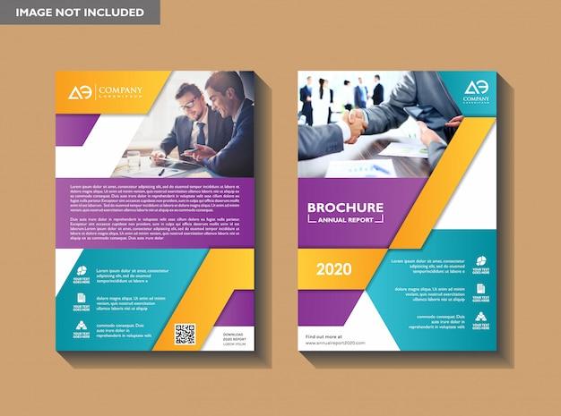 Corporative flyer design template