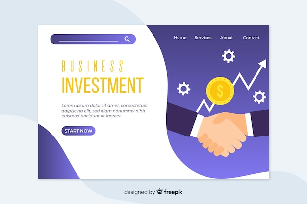 Corporative landing page web template for business or agencies