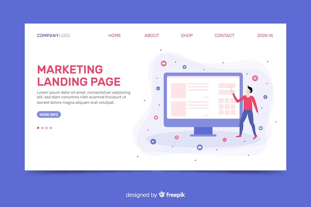 Corporative landing page web template for marketing agencies