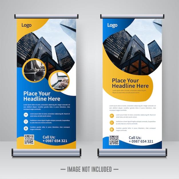 Corporative rollup or xbanner design template