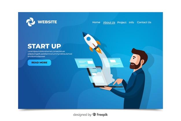 Corporative start up landing page