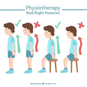 Correct and incorrect postures
