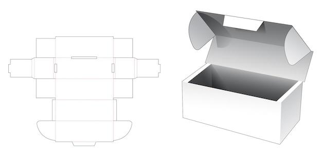Шаблон для высечки из гофрированного картона и фиксатора