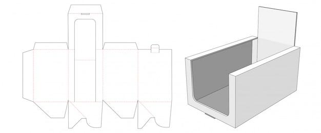 Corrugated counter display die cut template design