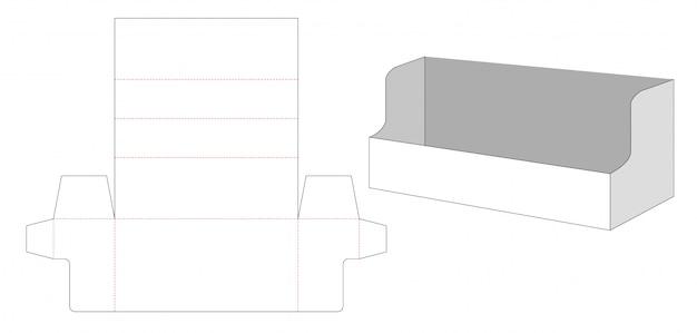 Corrugated display die cut template