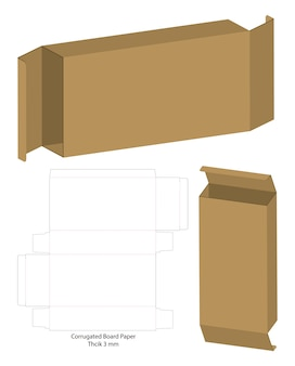 Corrugated package box die cut