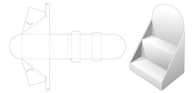 Corrugated product display die cut template