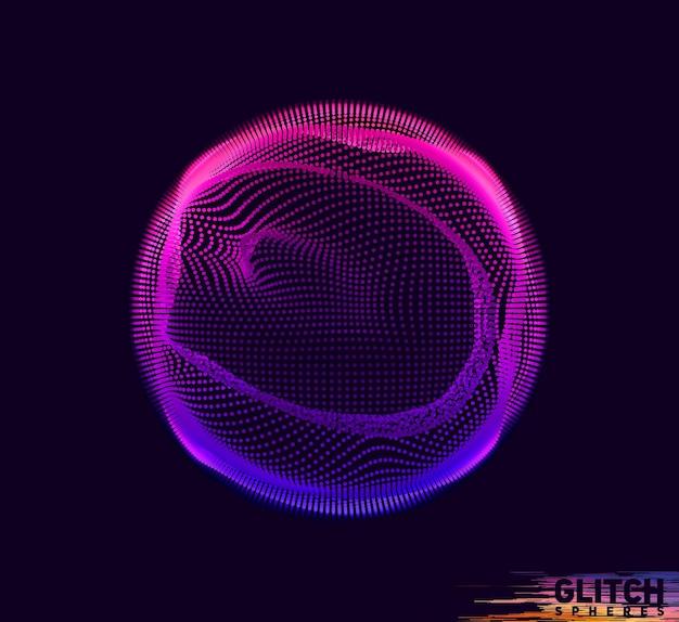 Corrupted violet point sphere