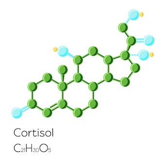 Cortisol hormone structural chemical formula