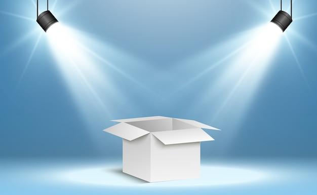 Коробка corton на прозрачном фоне. подарок или посылку.