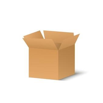 透明な背景のコルトンボックス。ギフトや小包のイラスト。