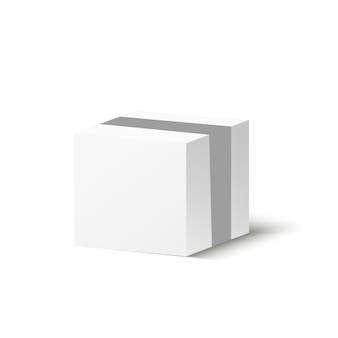 Corton box on a transparent background. illustration of a gift or parcel.