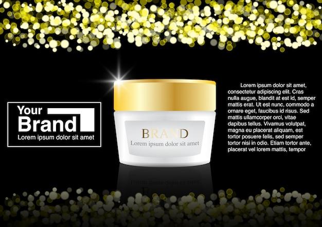 Cosmetic ad bokeh concept