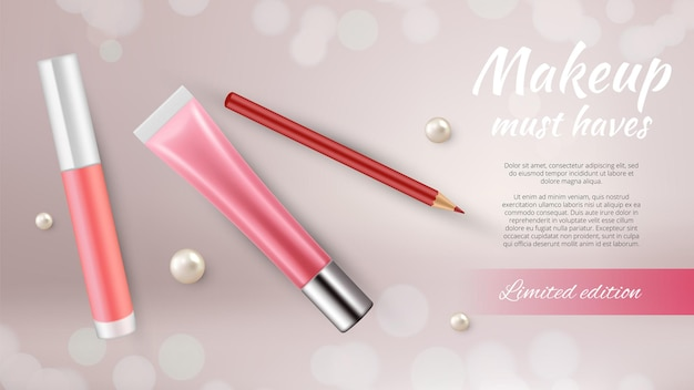 Cosmetic ads banner.