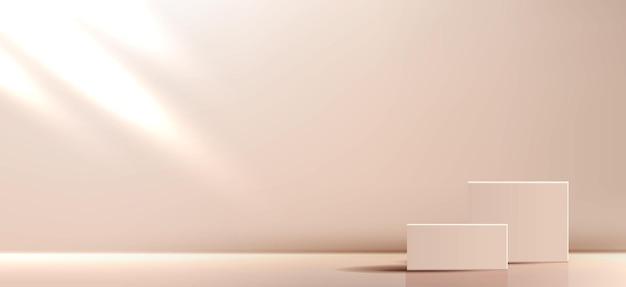 기하학적 형태로 제품 최소한의 장면에 대한 화장품 배경 추상적 인 배경