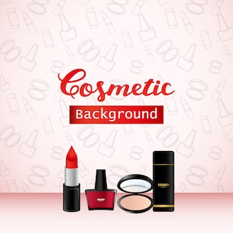 Cosmetic background, product promo advertising banner design