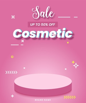 Cosmetic background for promotion or sale