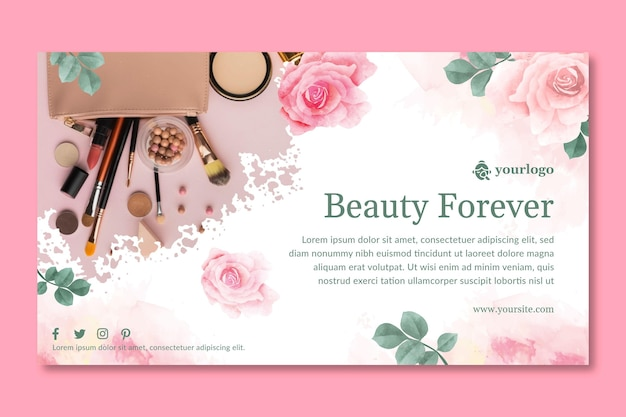 Cosmetic banner template design