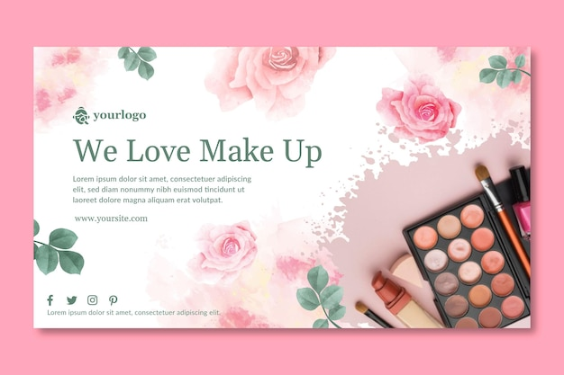 Cosmetic banner template theme