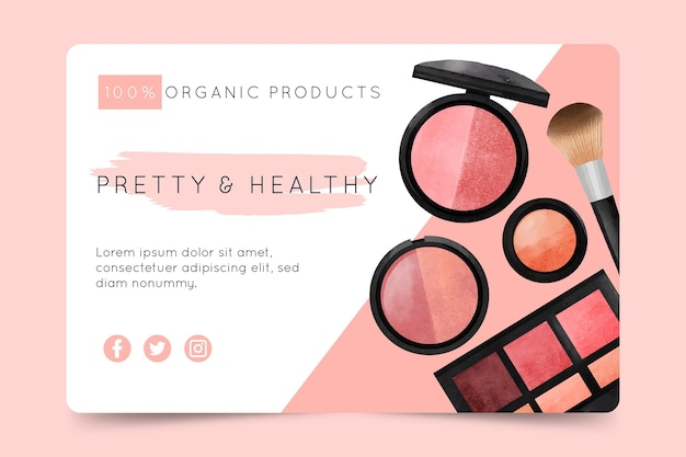 Cosmetic banner template