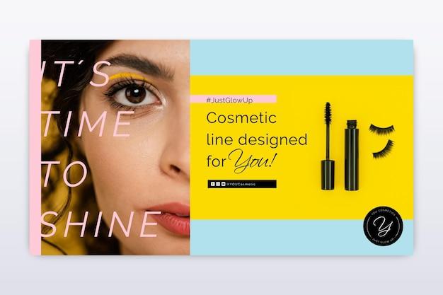 Modello di banner cosmetico
