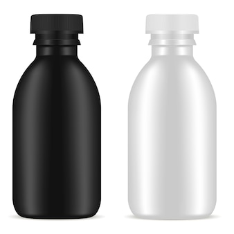 Cosmetic blank bottle product set. jar container.