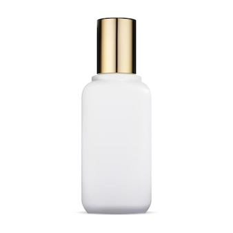 Cosmetic bottle glass container with gold cap luxury beauty packaging
