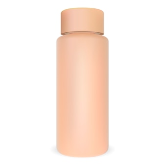 Cosmetic bottle tubular