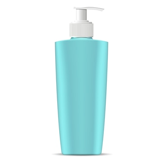 Cosmetic bottle with pump dispenser lid