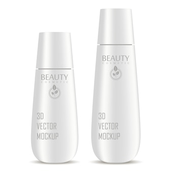Cosmetic bottles mockup set