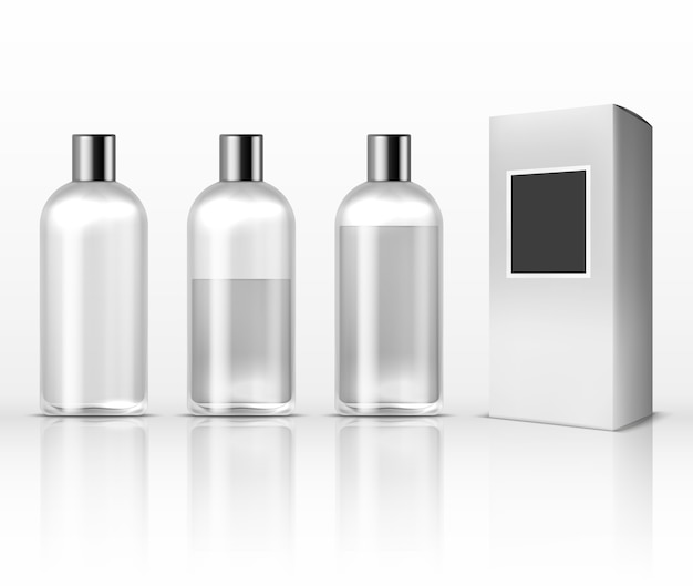 Cosmetic clear plastic bottles