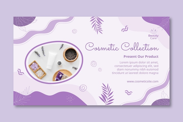 Cosmetic collection banner design template