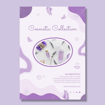Cosmetic collection flyer design template