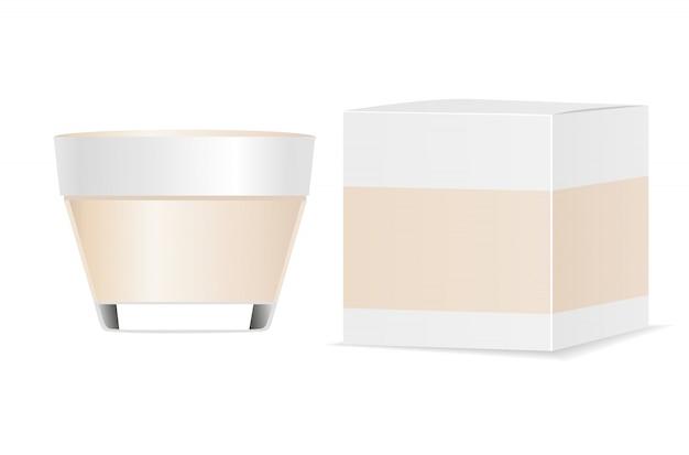 化粧品容器と紙の包装