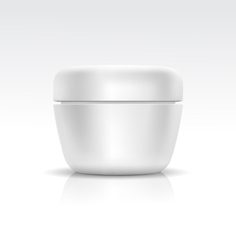 Cosmetic container for cream, powder or gel