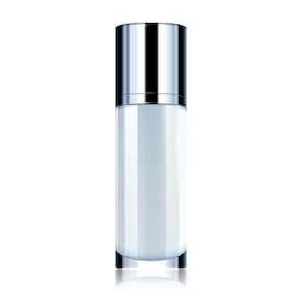 Cosmetic container mockup, blank bottle