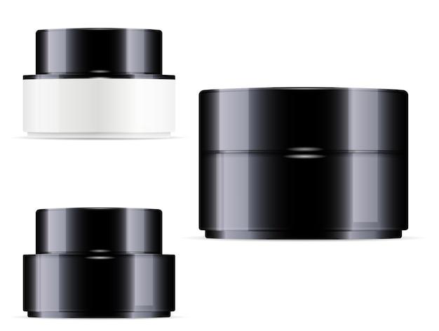 化粧品クリームジャープラスチッククリーム容器セット