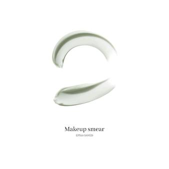 白で分離された化粧品クリーム塗抹標本