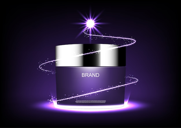 Cosmetic cream and sparkler light