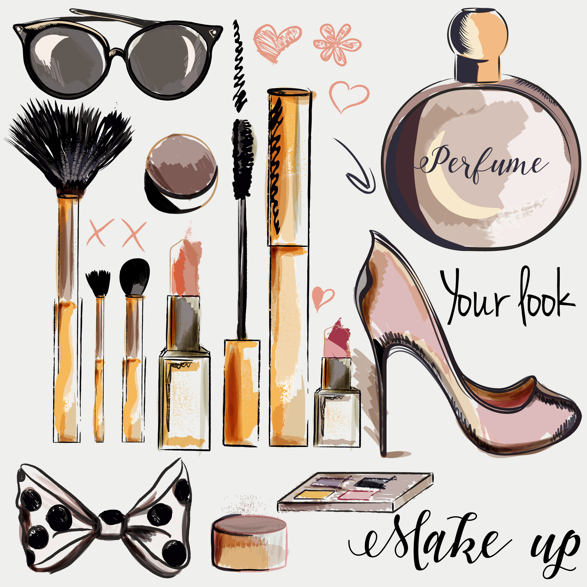 Cosmetic elements collection