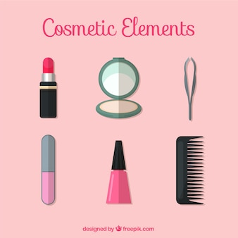 Cosmetic elements in flat design